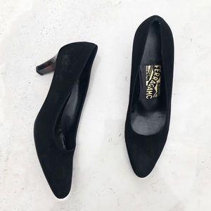 Salvatore Ferragamo Vintage suede heels
